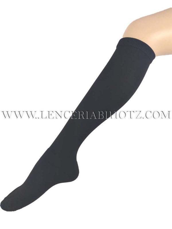 calza térmica rodilla mujer color negro