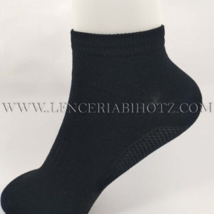 calcetin tobillero de hilo de escocia negro mujer