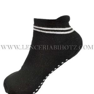 calcetin antideslizante con rizo interior negro