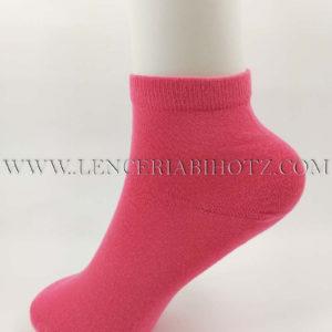 calcetin tobillero mujer de fibra de bambu color coral