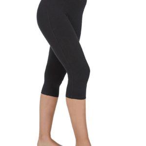 legging negro para mujer de algodon pirata