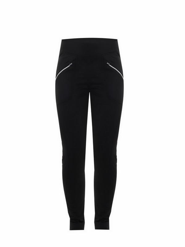 pantalon de mujer negro con cremalleras laterales