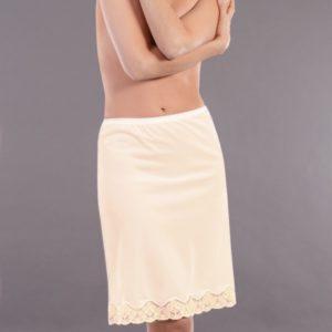 combinacion falda encaje bajo clasica color beige