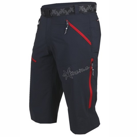 pantalon trekking bolsillos cremalleras rojas y cinturon