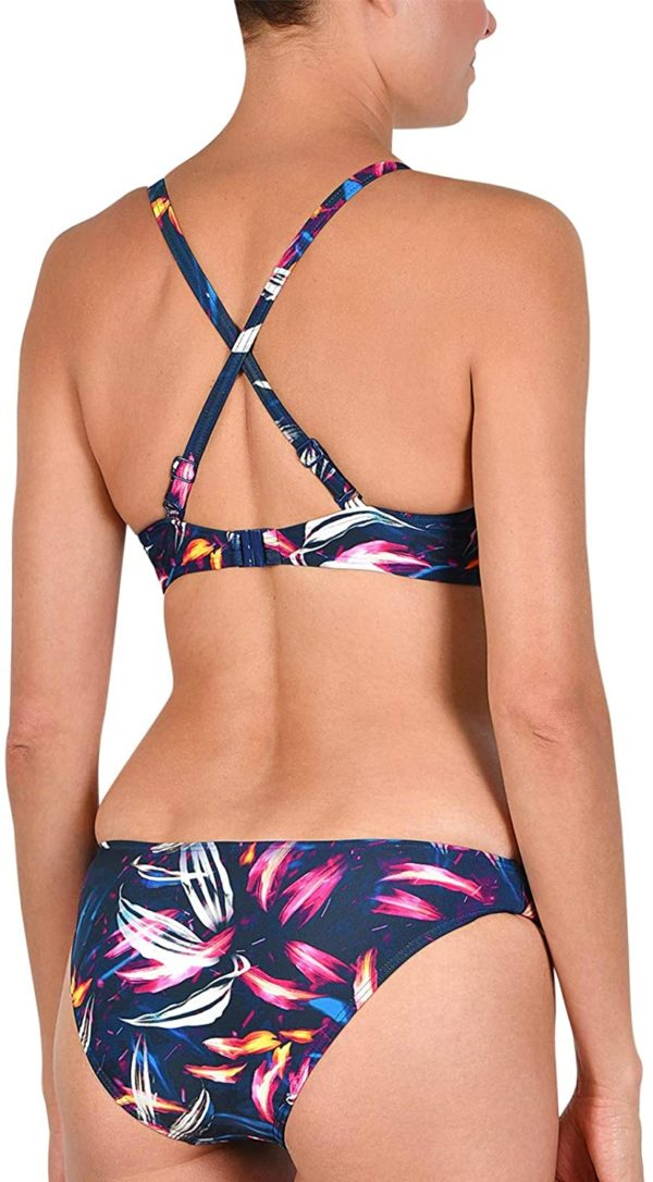 bikini con tirantes multiposicion marino hojas