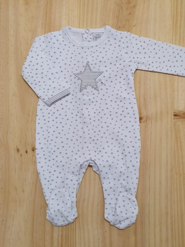 pijama bebe algodon con estrellas grises