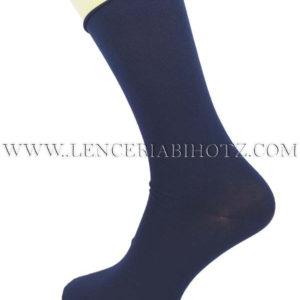 calcetin hombre taco seda puño de rulo color marino. poliamida