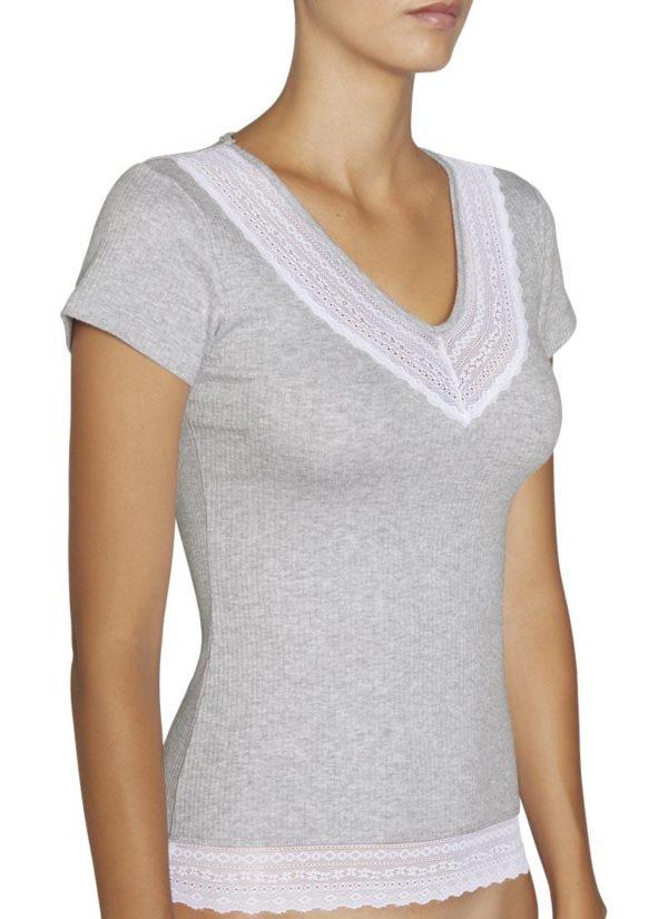 camiseta gris jaspeado magna