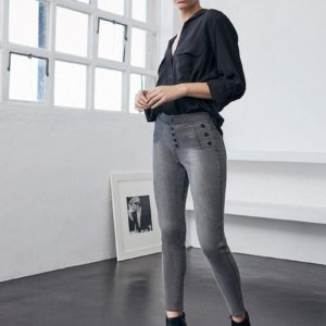 leggings push up gris vaquero