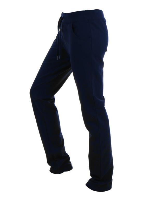 pantalon algodon chandal marino con cinturilla ancha con cordones y perchado suave