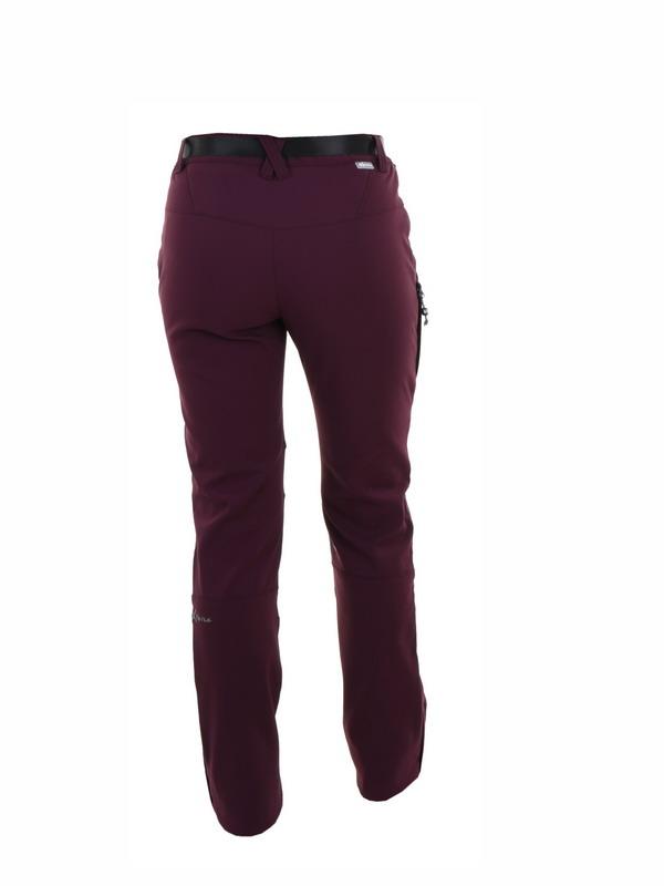 pantalon mujer felpa borgoña con rodilleras de refuerzo en gris marengo, bolsillos delanteros cremallera, cinturon. Cremalleras en los bajos