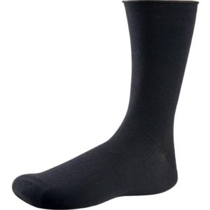 calcetin negro de algodon canale sin goma y sin puño