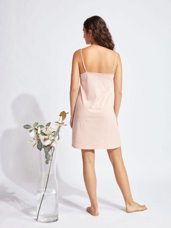 Camisón espalda lisa tirantes finos rosa