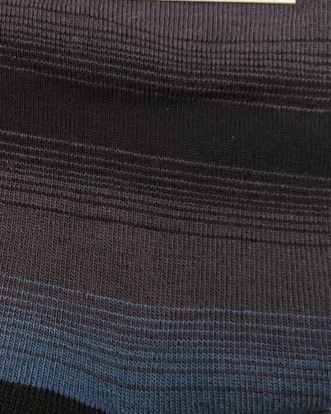 estampado calcetin rayas con azul