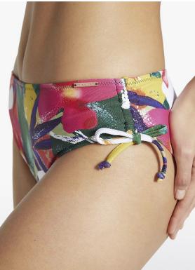 braga bikini flores, midi laterales regulables con cordon