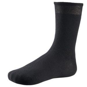 calcetin puño no aprieta, negro, fino 100% algodon