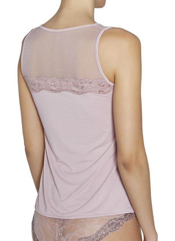 Camiseta lencera sin mangas espalda encaje