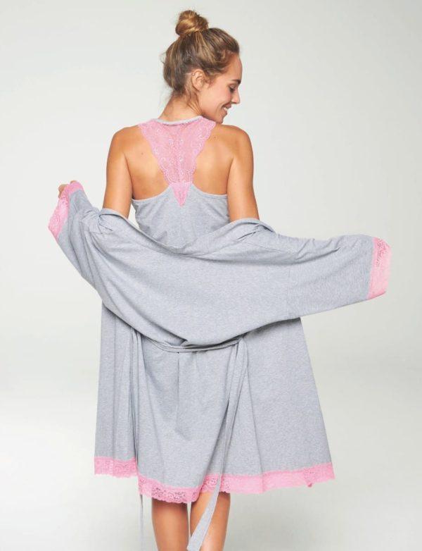 camison encaje trasero rosa