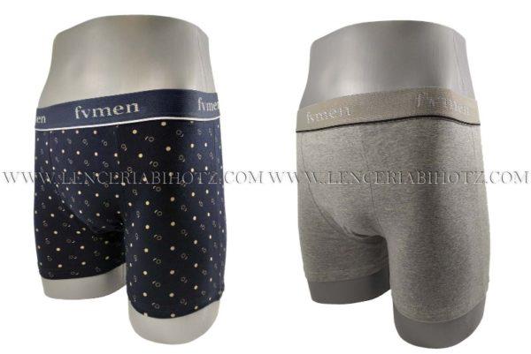 lote 2 boxers, marino de fantasia y gris liso