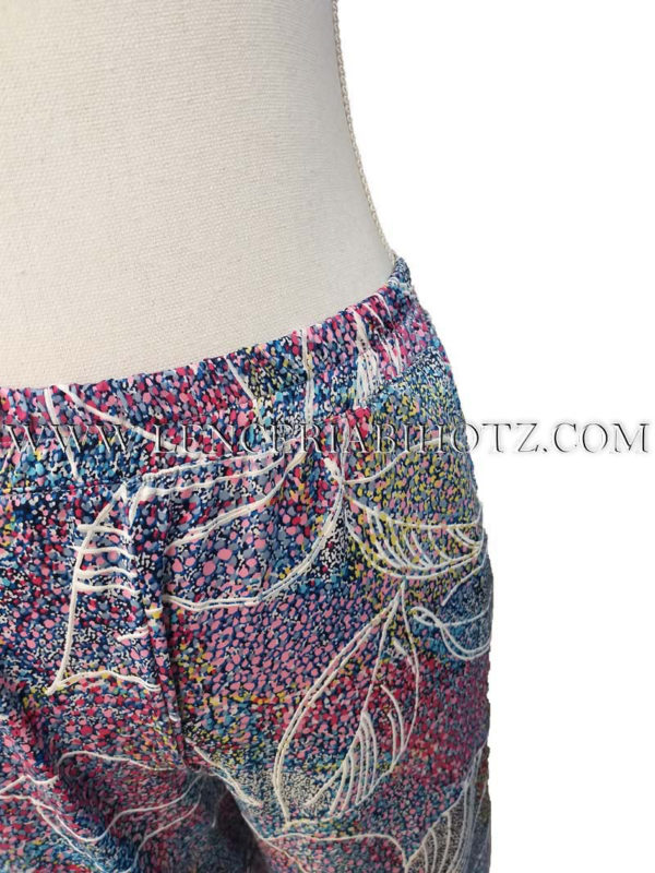 pantalon con goma verano estampado con bolsillos