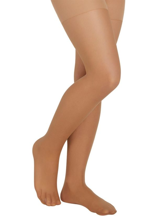 panty niña color natural con demarcacion en el muslo. Grosor 15 den