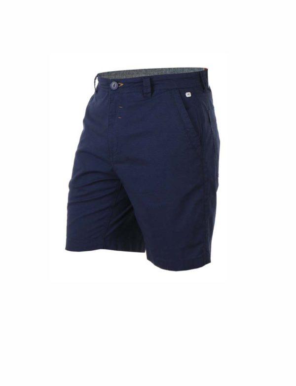 Pantalón chino corto azul marino bolsillos laterales