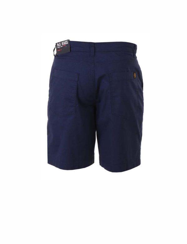 Bermuda corta bolsillos traseros azul marino