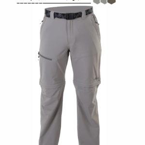 Pantalón desmontable con cremallera color crema y cinturón