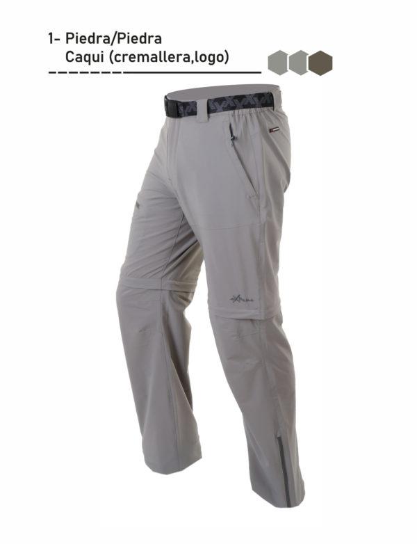 Pantalón desmontable bolsillos laterales con cinturón