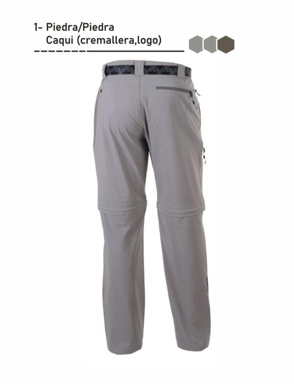 Pantalón desmontable bolsillo trasero con cinturón