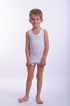camiseta interior niño tirantes anchos blanca