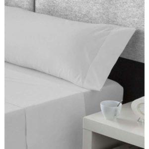 pieza suelta sabanas algodon, bajera y almohadon, gris plata