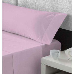 pieza suelta sabanas algodon, bajera y almohadon, malva