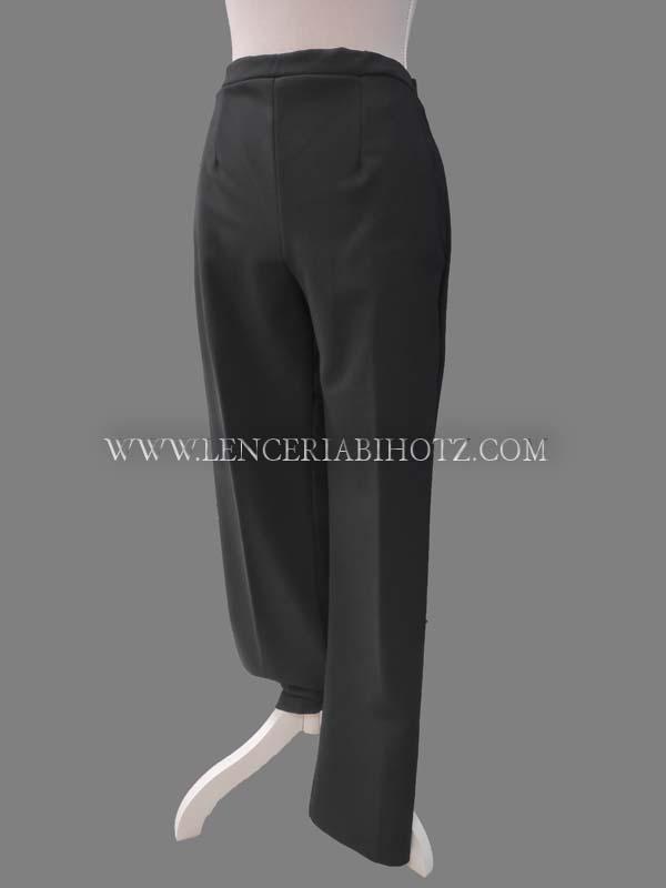 pantalon mujer felpa interior con bolsillos laterales. Sin cremallera ni botones, 2 pinzas delante, cinturilla delantera.